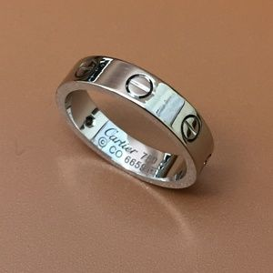 Cartier 18k Gold 750 1p Diamond Love Ring Size 50